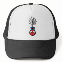 Kawaii Spider-Man Hanging Upside Down Trucker Hat