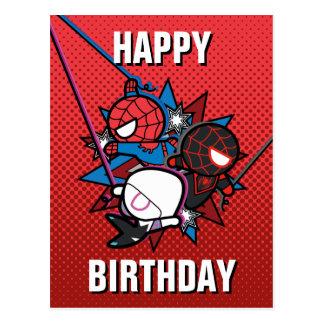 Kawaii Spider-Man, Spider-Gwen, & Miles Morales Postcard