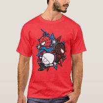 Kawaii Spider-Man, Spider-Gwen, & Miles Morales T-Shirt