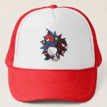 Kawaii Spider-Man, Spider-Gwen, & Miles Morales Trucker Hat