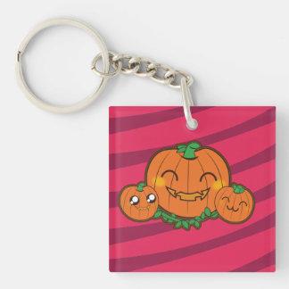 Kawaii spooky pumpkin key chain