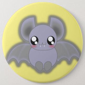 Kawaii spooly bat pinback button