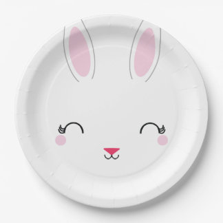 kawaii SPRING BUNNY birthday party plate