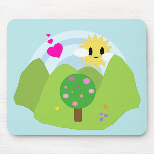 Kawaii Spring Day Mousepad