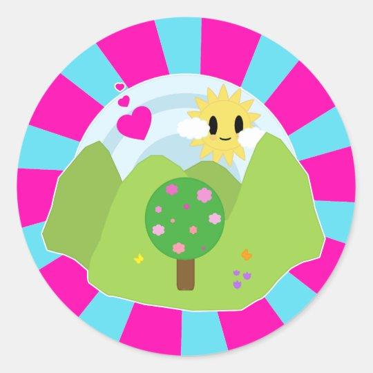 Kawaii Spring Day Sticker