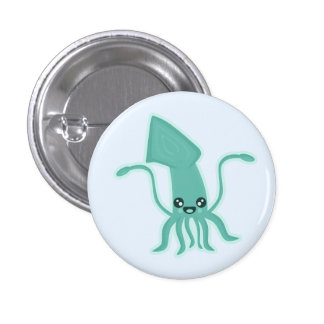 Kawaii Squid Button