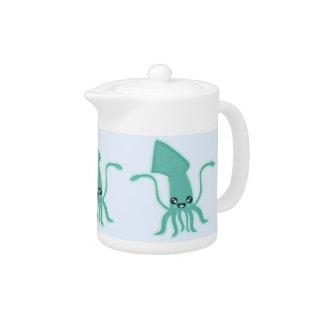 Kawaii Squid Teapot at Zazzle