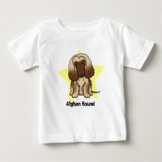 Kawaii Star Afghan Hound Baby's Baby T-Shirt