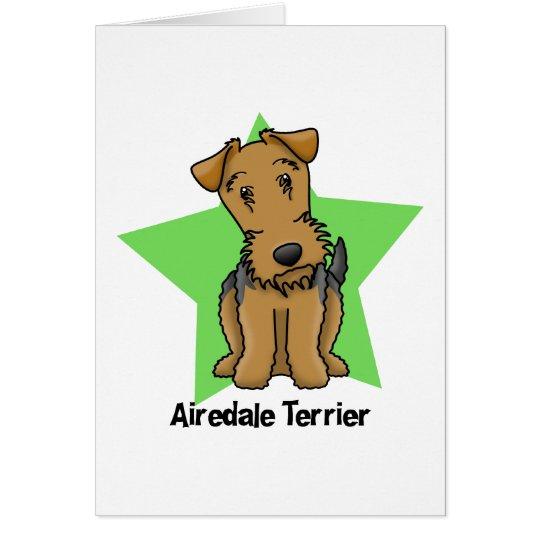 Kawaii Star Airedale Terrier Card