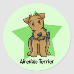 Kawaii Star Airedale Terrier Stickers