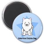 Kawaii Star American Eskimo Dog Refrigerator Magnet