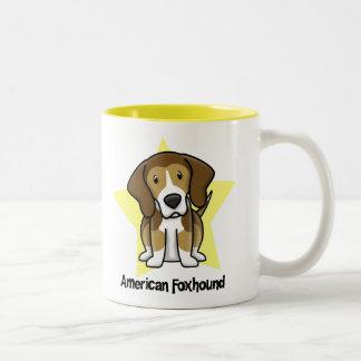 Kawaii Star American Foxhound Coffee Mug