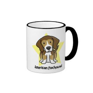 Kawaii Star American Foxhound Mug