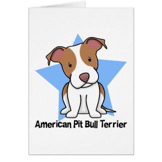 Kawaii Star American Pit Bull Terrier Greeting Card