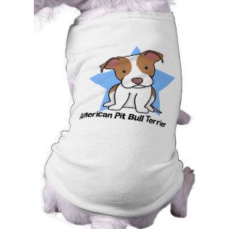 Kawaii Star American Pit Bull Terrier Dog T-shirt