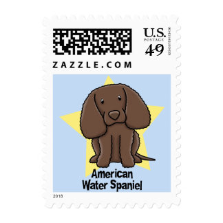 Kawaii Star American Water Spaniel Postage Stamps