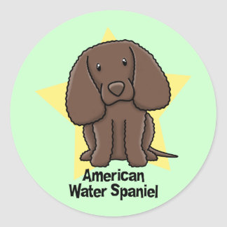 Kawaii Star American Water Spaniel Stickers