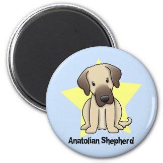 Kawaii Star Anatolian Shepherd Dog 2 Inch Round Magnet