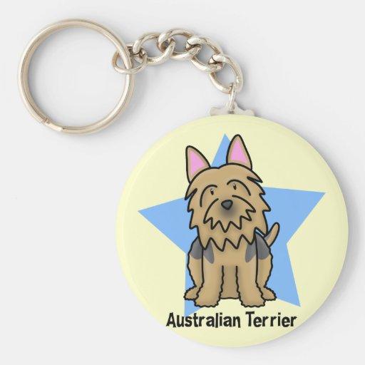 Kawaii Star Australian Terrier Keychain
