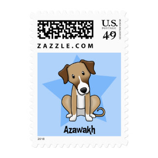 Kawaii Star Azawakh Stamp