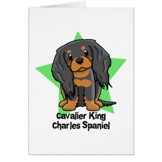 Kawaii Star B&T Cavalier King Charles Spaniel Card