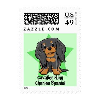 Kawaii Star B&T Cavalier King Charles Spaniel Stamps