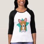 Kawaii Star Basenji Ladies T-Shirt