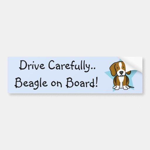 Kawaii Star Beagle Bumper Sticker