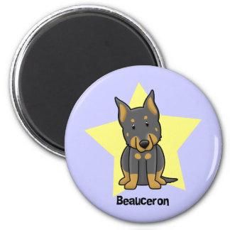 Kawaii Star Beauceron 2 Inch Round Magnet