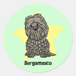 Kawaii Star Bergamasco Classic Round Sticker