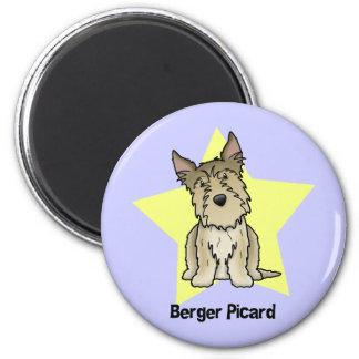Kawaii Star Berger Picard 2 Inch Round Magnet