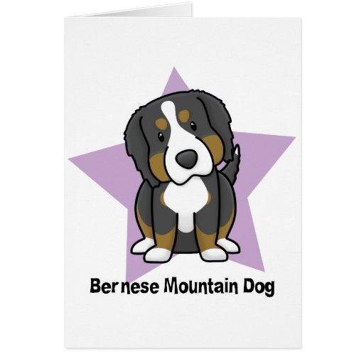 Kawaii Star Bernese Mountain Dog Greeting Card