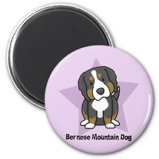 Kawaii Star Bernese Mountain Dog Magnets