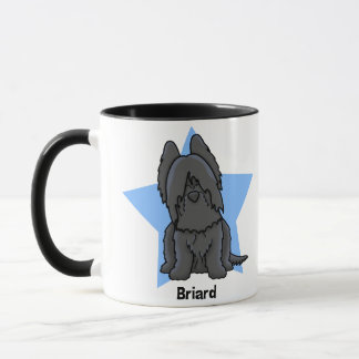 Kawaii Star Black Briard Mug