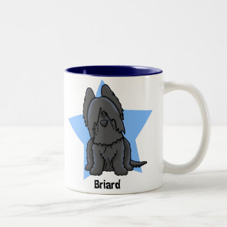Kawaii Star Black Briard Two-Tone Coffee Mug