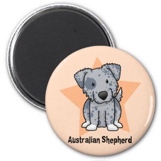 Kawaii Star Blue Australian Shepherd Magnet