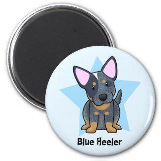 Kawaii Star Blue Heeler 2 Inch Round Magnet