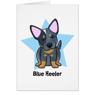 Kawaii Star Blue Heeler Greeting Card