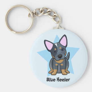 Kawaii Star Blue Heeler Keychain