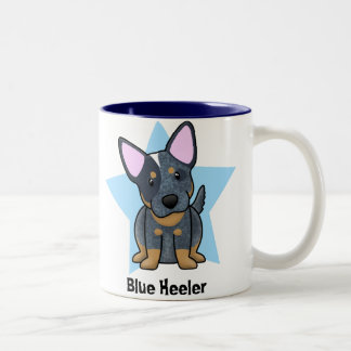 Kawaii Star Blue Heeler Two-Tone Coffee Mug