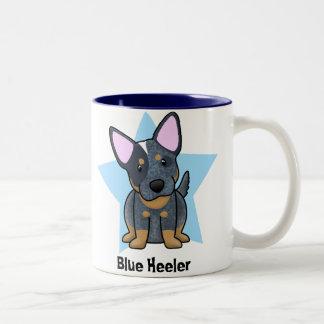 Kawaii Star Blue Heeler Mugs