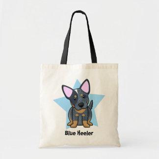 Kawaii Star Blue Heeler Tote Bag