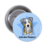 Kawaii Star Blue Merle Australian Shepherd Button
