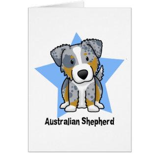 Kawaii Star Blue Merle Australian Shepherd Cards