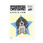 Kawaii Star Bluetick Coonhound Postage Stamps
