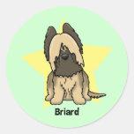 Kawaii Star Briard Stickers