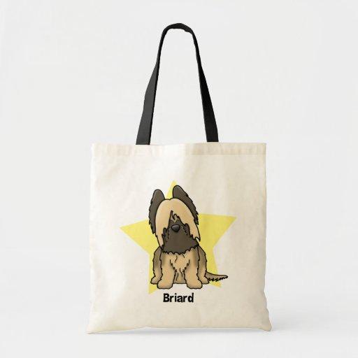 Kawaii Star Briard Tote Bag