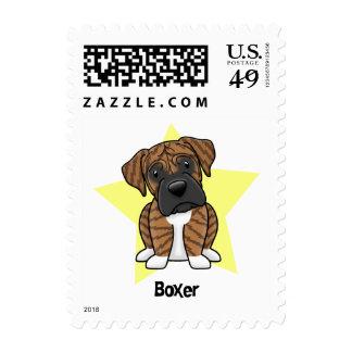 Kawaii Star Brindle Boxer Stamp