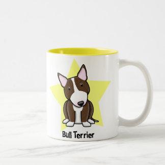 Kawaii Star Brindle Bull Terrier Two-Tone Coffee Mug