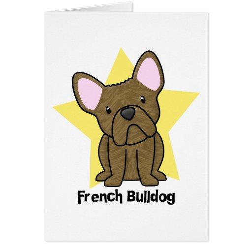 Kawaii Star Brindle French Bulldog Card